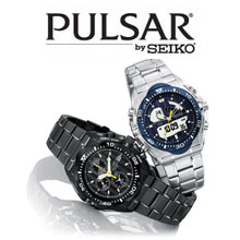 pulsar logo and watches